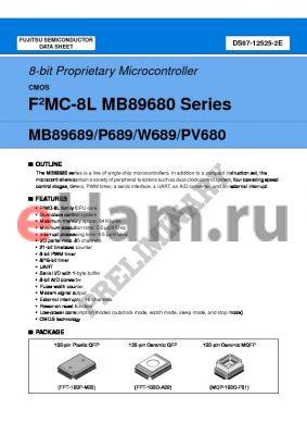 MB89689PF datasheet - 8-bit Proprietary Microcontroller