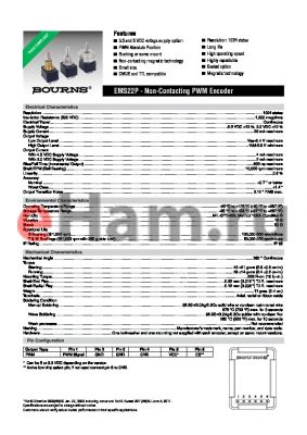EMS22P50-R25-WD6 datasheet - Non-Contacting PWM Encoder