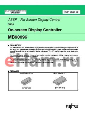 MB90096 datasheet - On-screen Display Controller