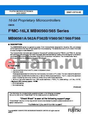 MB90567PF datasheet - 16-bit Proprietary Microcontrollers