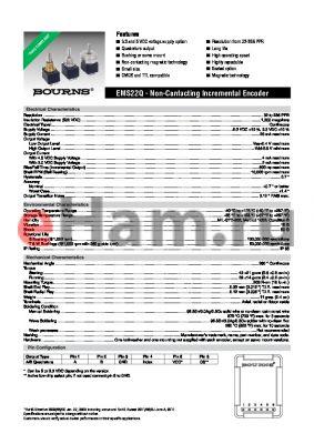 EMS22Q33-C20-LT1 datasheet - Non-Contacting Incremental Encoder
