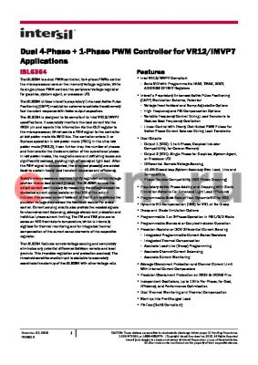 ISL6610A datasheet - Dual 4-Phase  1-Phase PWM Controller for VR12/IMVP7 Applications