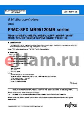 MB95F126NBPF datasheet - 8-bit Microcontrollers