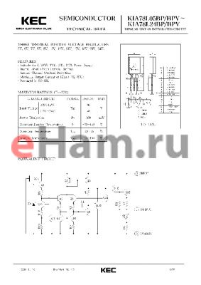 KIA78L07BP datasheet - BIPOLAR LINEAR INTEGRATED CIRCUIT (THREE TERMINAL POSITIVE VOLTAGE REGULATOR)