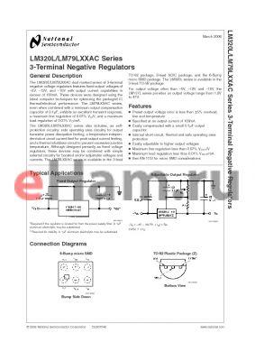 LM79L15ACTL datasheet - 3-Terminal Negative Regulators