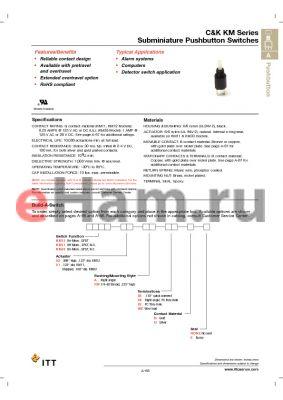 KM1101RR02B datasheet - Subminiature Pushbutton Switches
