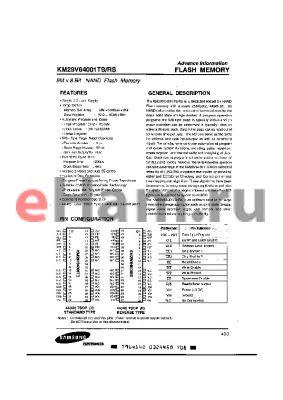 KM29V64001RS datasheet - 8M X 8 BIT NAND FLASH MEMORY