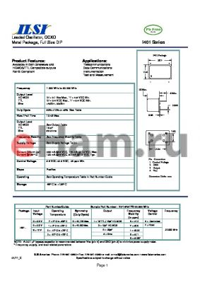 I401-97663V-20.000 datasheet - Leaded Oscillator, OCXO Metal Package, Full Size DIP