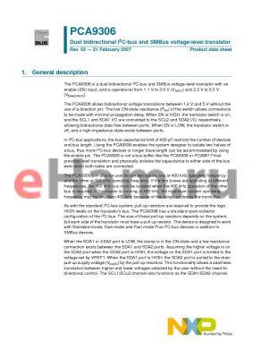 PCA9306DC1 datasheet - Dual bidirectional I2C-bus and SMBus voltage-level translator