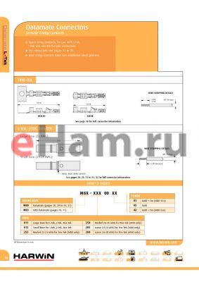 M83-2830005 datasheet - Datamate Connectors