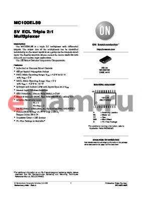 MC100EL59_06 datasheet - 5V ECL Triple 2:1 Multiplexer