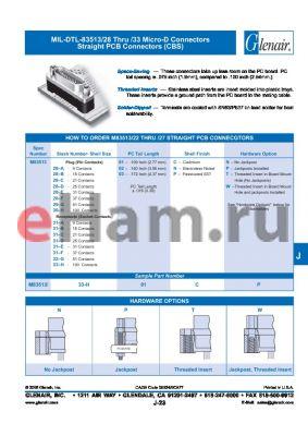 M83513-30-H01CP datasheet - Micro-D Connectors