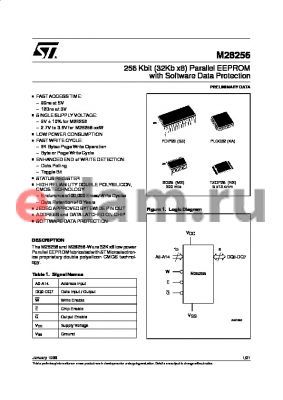 M28256-12WKA1T datasheet - 256 Kbit 32Kb x8 Parallel EEPROM with Software Data Protection