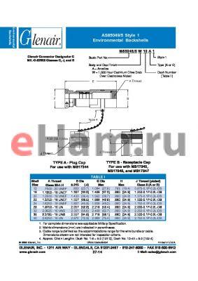 M85049-5A41B datasheet - Environmental Backshells