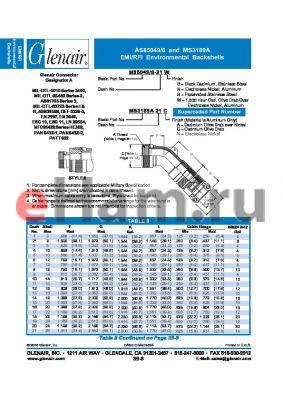 M85049-6-46 datasheet - EMI/RFI Environmental Backshells