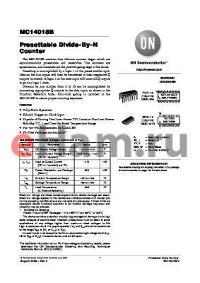 MC14018B_05 datasheet - Presettable Divide−By−N Counter