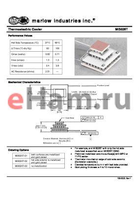 MI3026T datasheet - Thermoelectric Cooler