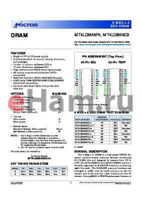 MT4LC8M8C2DJ-5 datasheet - DRAM