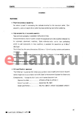 NRB336K10 datasheet - High-Temperature Durability