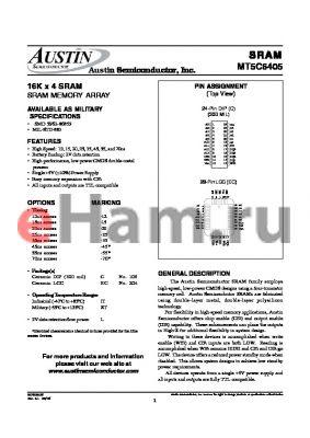MT5C6405EC-12L/IT datasheet - 16K x 4 SRAM SRAM MEMORY ARRAY