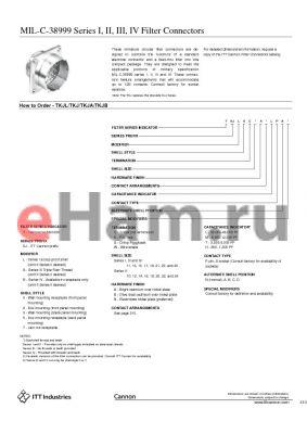 TKJL7S11AMLN datasheet - Filter Connectors
