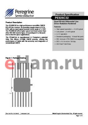 PE926C32-21 datasheet - Quad RS-422 Differential Line Driver Radiation Hardened