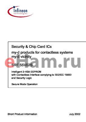 SRF55V02SY2.0 datasheet - Security & Chip Card ICs (my-d vicinity)