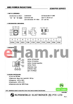 SDB0705470MZF datasheet - SMD POWER INDUCTORS