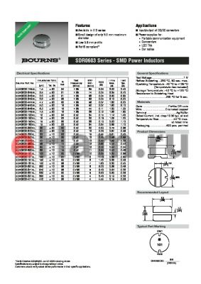 SDR0603-121KL datasheet - SMD Power Inductors