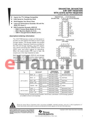 SN74AHCT595PWR datasheet - 8-BIT SHIFT REGISTERS WITH 3-STATE OUTPUT REGISTERS