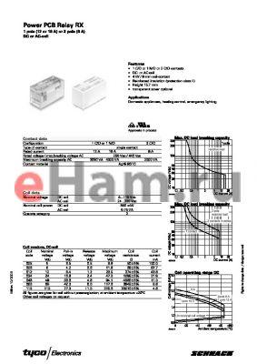 RX424615C datasheet - Power PCB Relay