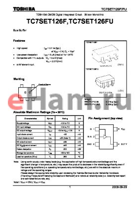 TC7SET126FU_09 datasheet - TOSHIBA CMOS Digital Integrated Circuit Silicon Monolithic