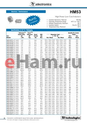 HM53-50550_LFH datasheet - High Power Low Cost Inductors