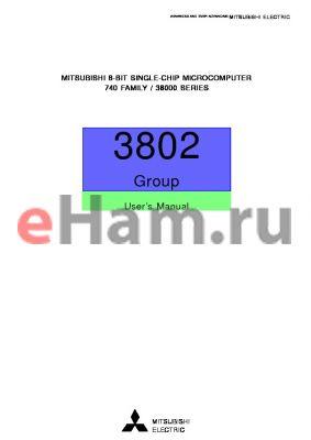 M38007E4-XXXFP datasheet - 8-BIT SINGLE-CHIP MICROCOMPUTER