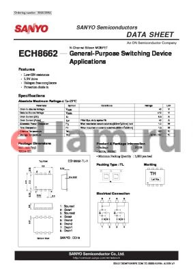 ECH8662_12 datasheet - General-Purpose Switching Device Applications