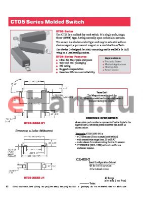 CT05-5033-G1 datasheet - Series Molded Switch