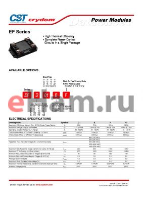 EFD19CF datasheet - Power Modules