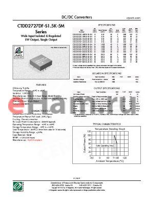 CTDD2727DF-4824-S1.5K-5M datasheet - DC/DC Converters