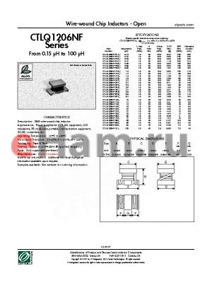 CTLQ1206NF-330M datasheet - Wire-wound Chip Inductors - Open