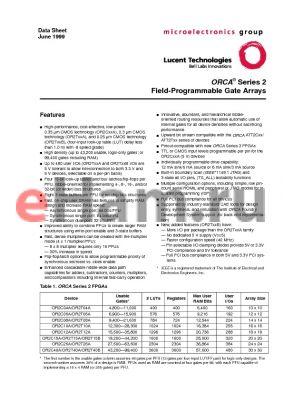 OR2T06A-6PS100 datasheet - Field-Programmable Gate Arrays