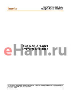 HY27UF164G2B datasheet - 4Gbit (512Mx8bit) NAND Flash
