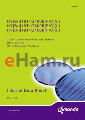 HYB18T1G160BF-3 datasheet - 1-Gbit Double-Data-Rate-Two SDRAM