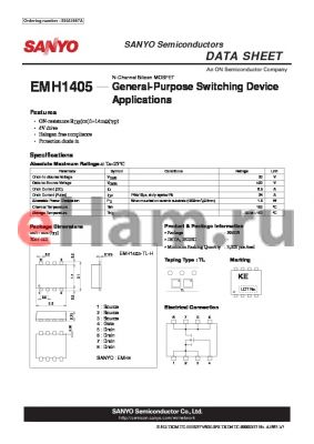 EMH1405 datasheet - General-Purpose Switching Device Applications