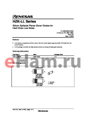 HZK3LLB datasheet - Silicon Epitaxial Planar Zener Diodes for Hard Knee Low Noise