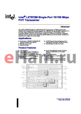 FAIXE972MLAA4 datasheet - Single-Port 10/100 Mbps PHY Transceiver