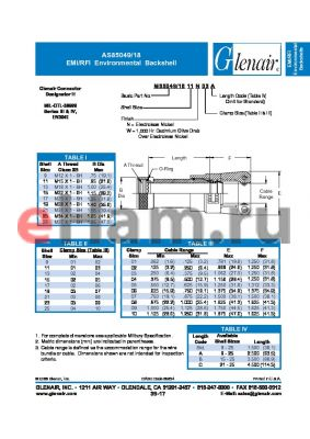 M85049-1817W09A datasheet - EMI/RFI Environmental Backshell