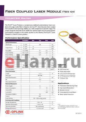 FCLM785S50LD3 datasheet - Fiber Coupled Laser Module