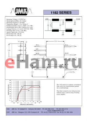 FF-1182-30 datasheet - Operating Voltage= 115/250 Vac OperatingCurrentMax= 20, 30amp