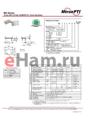 MA22FBG datasheet - 14 pin DIP, 5.0 Volt, ACMOS/TTL, Clock Oscillator