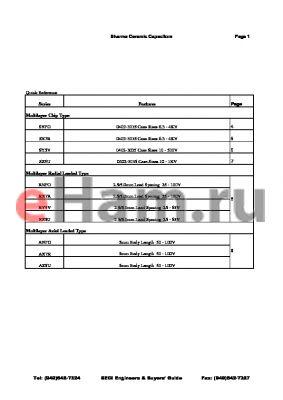 SY5V1R5C200T1 datasheet - Ceramic Capacitors